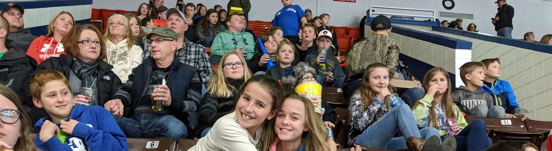 Middle school students attend the annual K Wings hockey game.