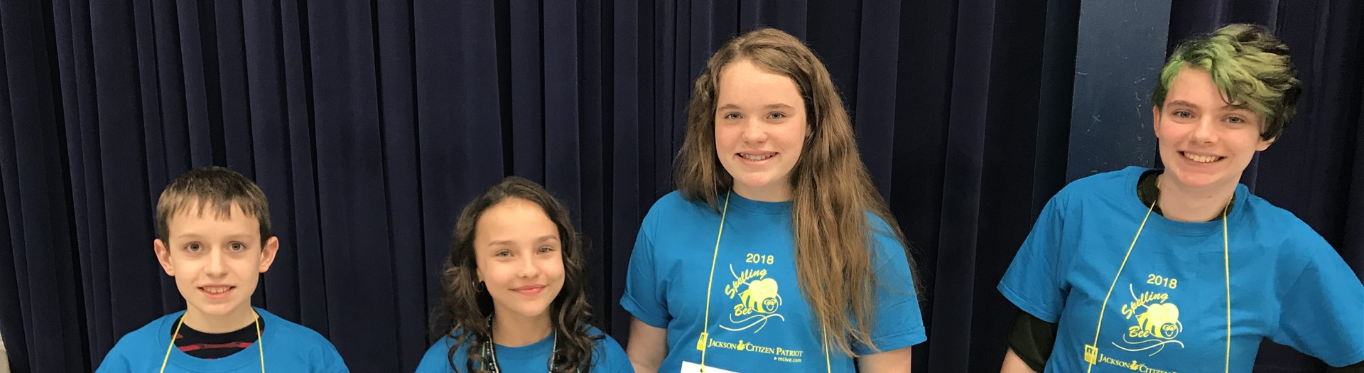 Four Middle School Students part of 2018 spelling bee