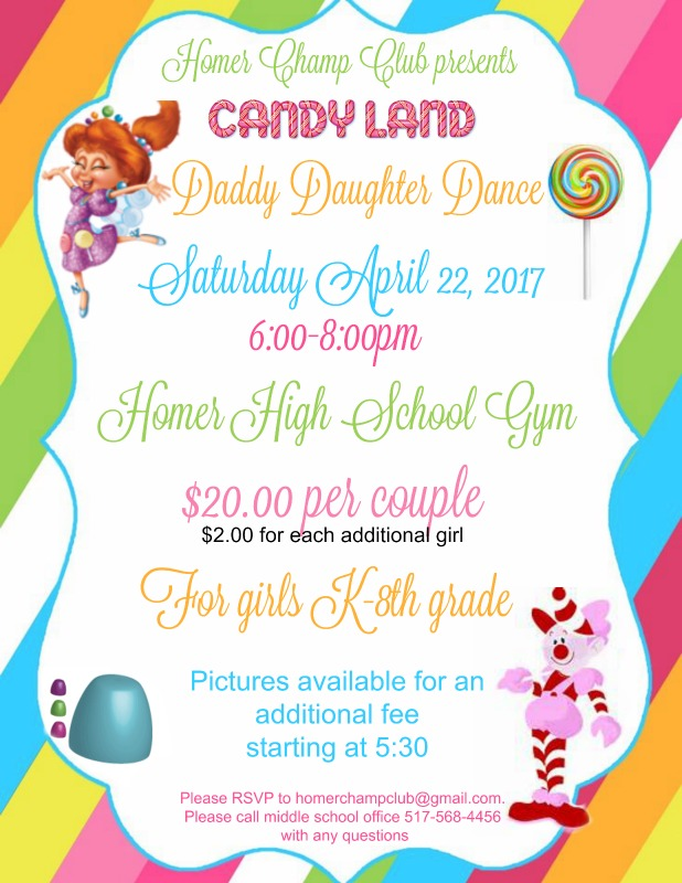 2017 Daddy Daughter Dance Flyer